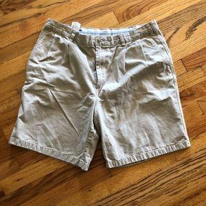 Lands End men's khaki shorts lk nw sz 36 look